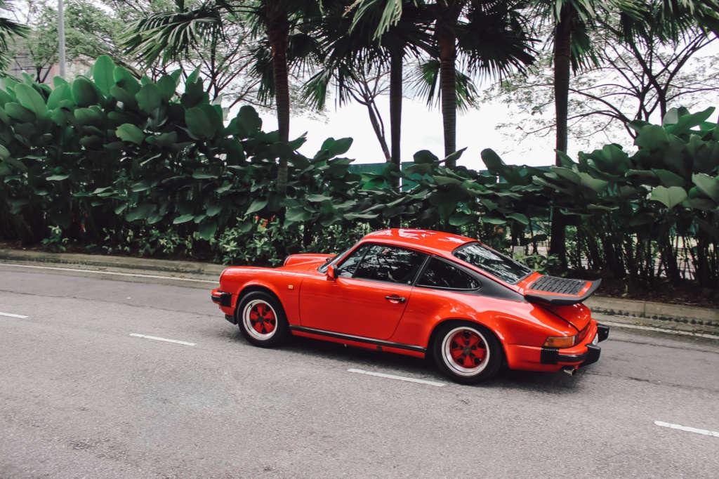 Porsche 911 3.2 Carrera in red