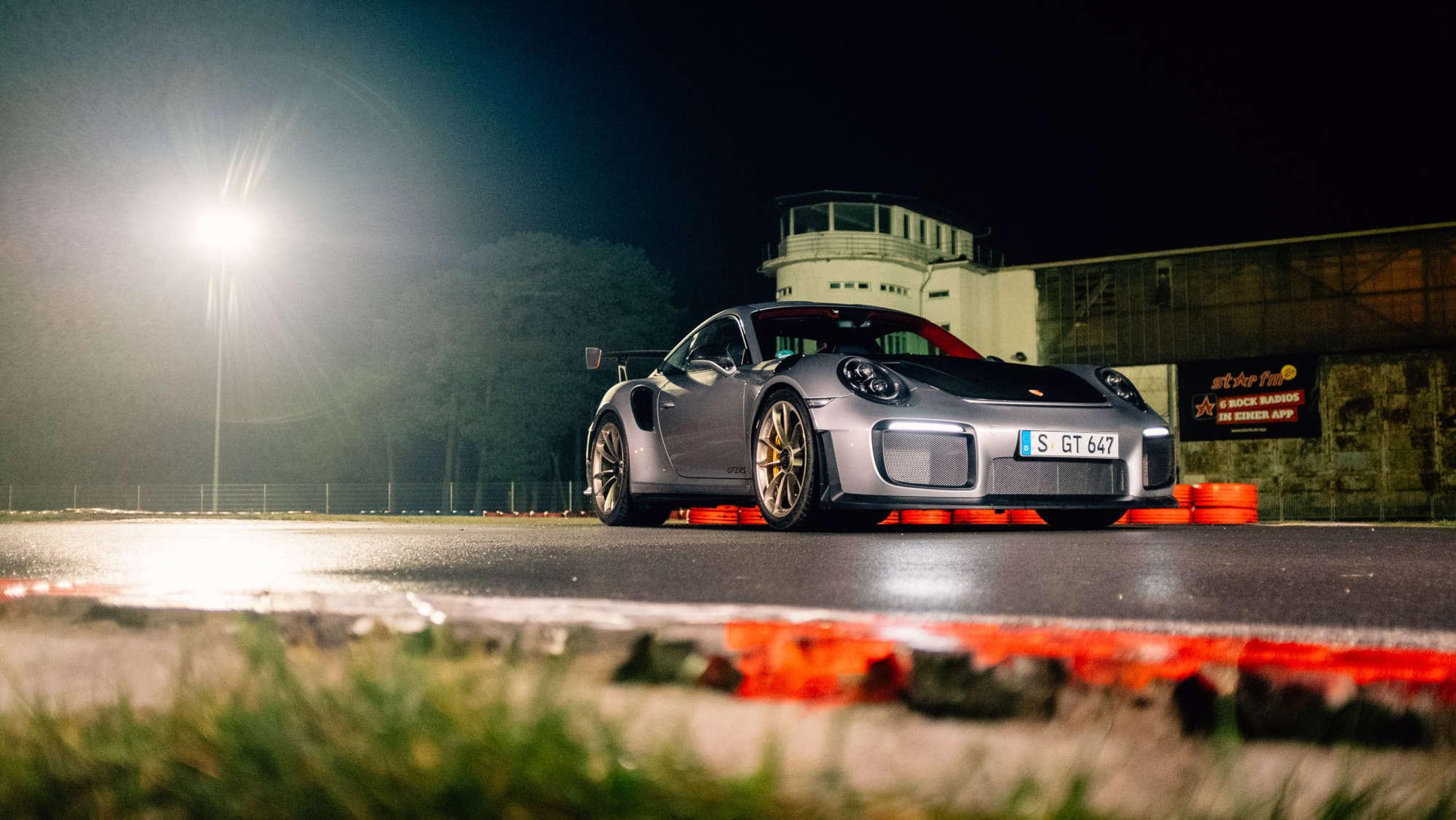 GT2 RS on a go-kart track