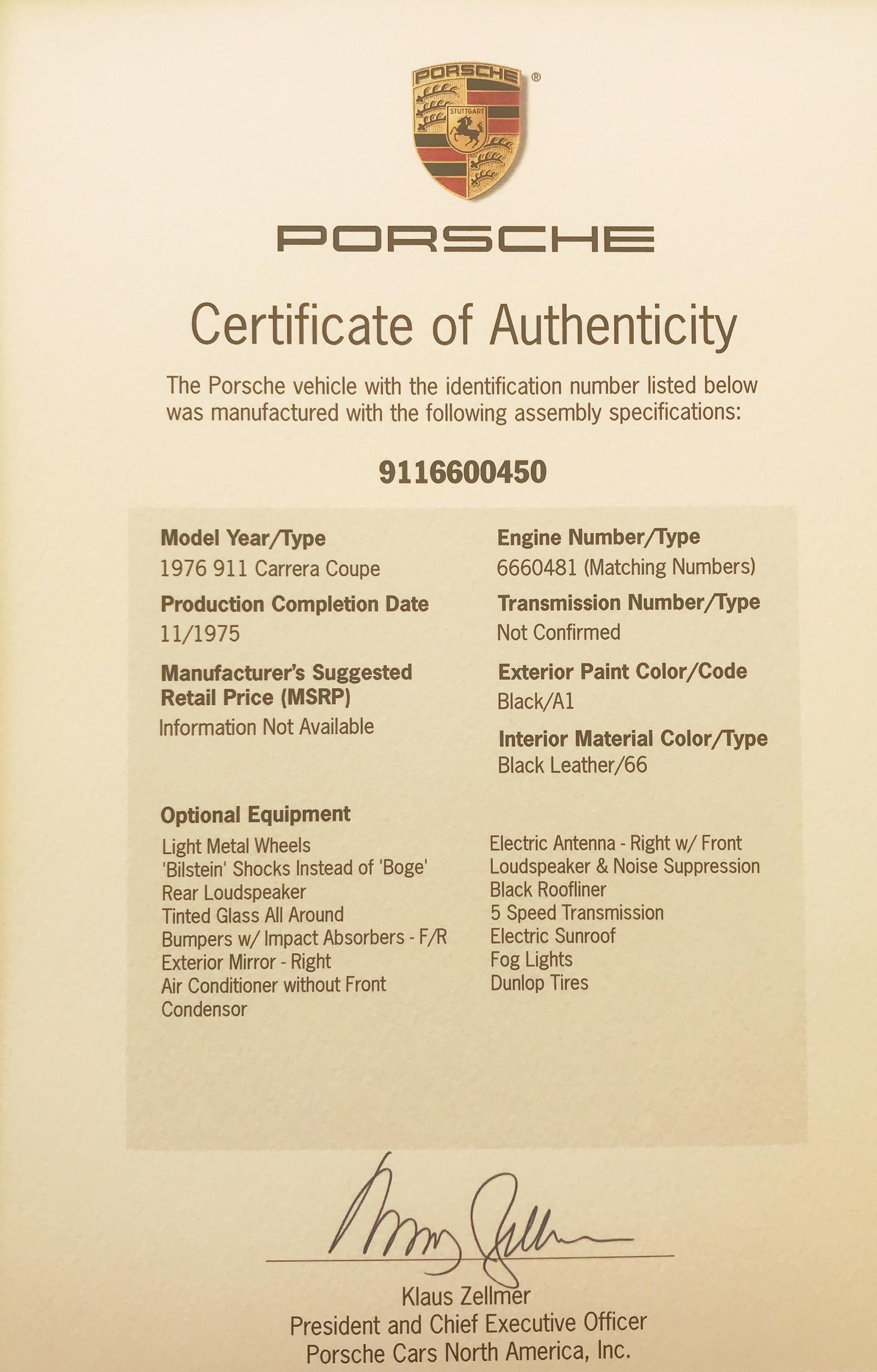 Porsche 911 Carrera 3,0 1976 - elferspot com - Marketplace for