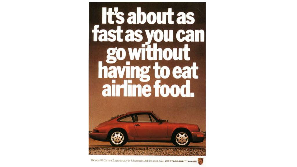 Porsche advertising