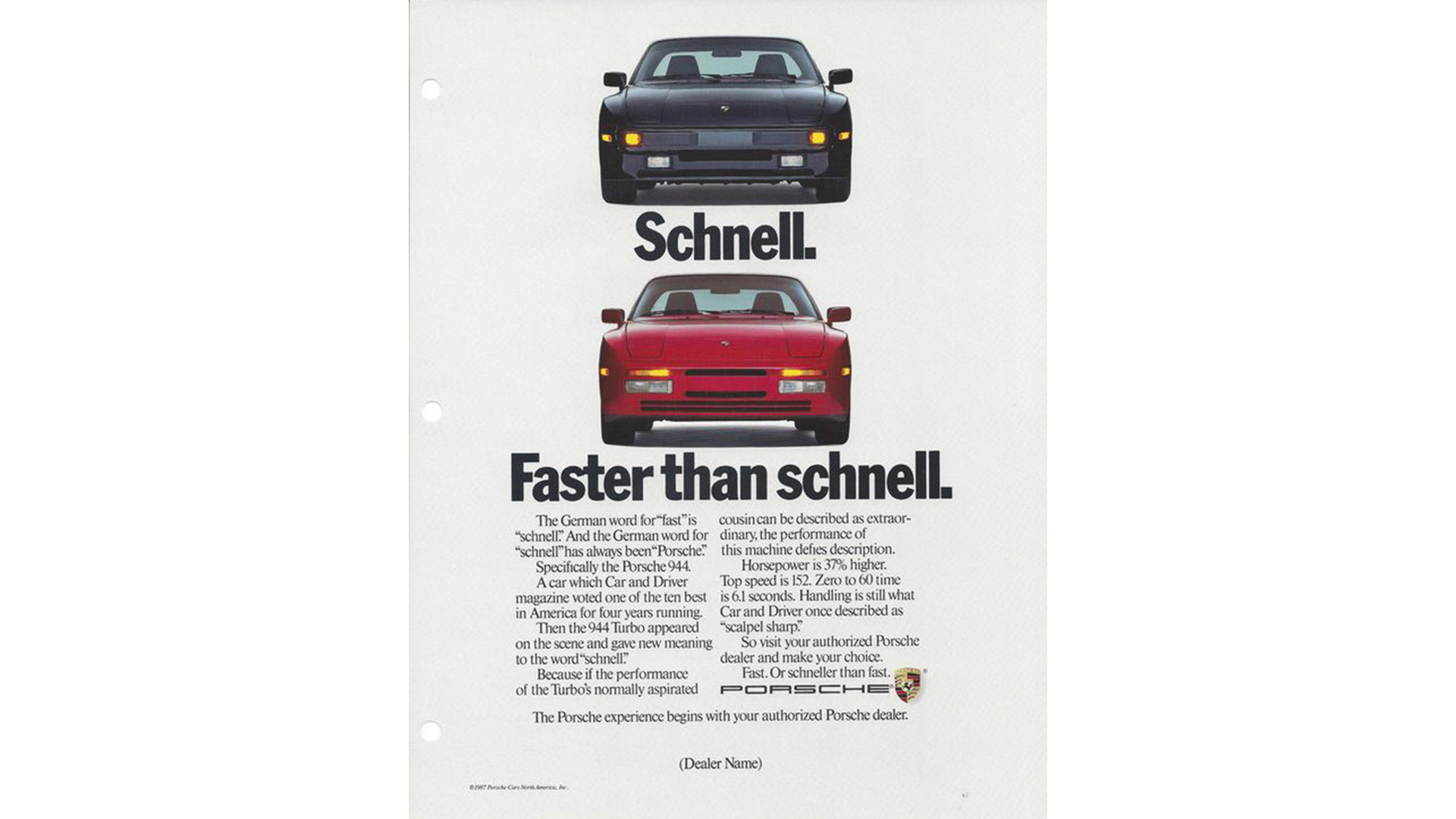 Porsche advertising from past days