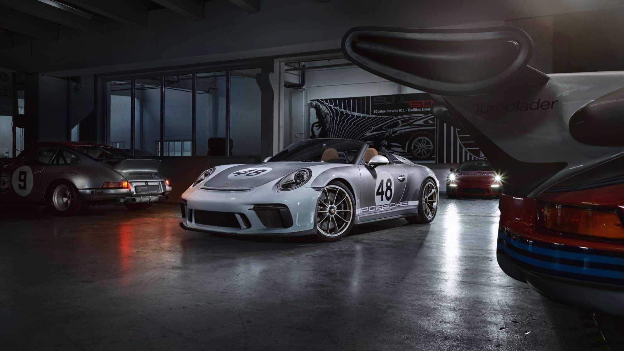 Porsche (991) 911 Speedster in Grau