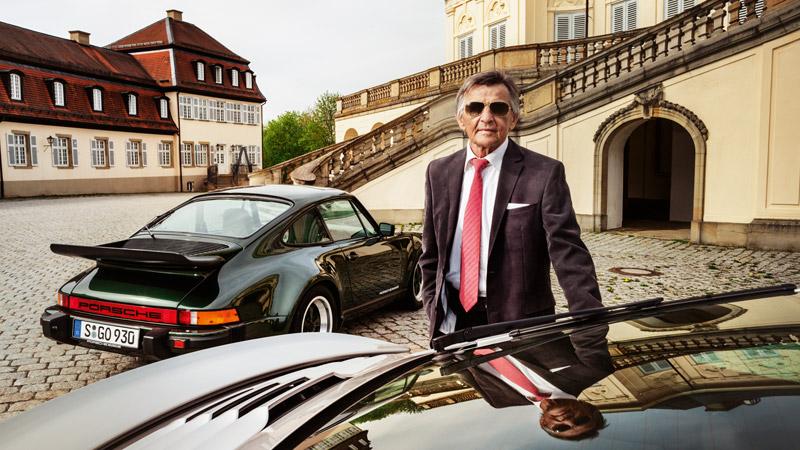 Porsche engine mastermind Hans Mezger