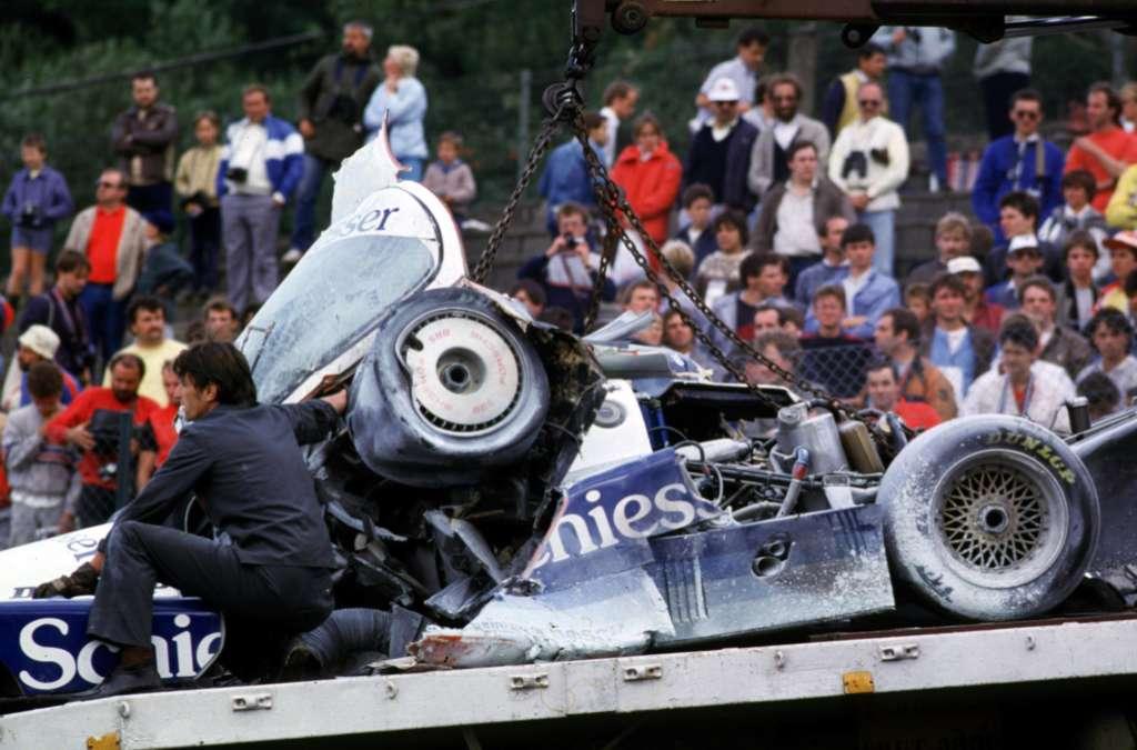 Stefan Bellofs wrecked Porsche 962 Brun fatal accident