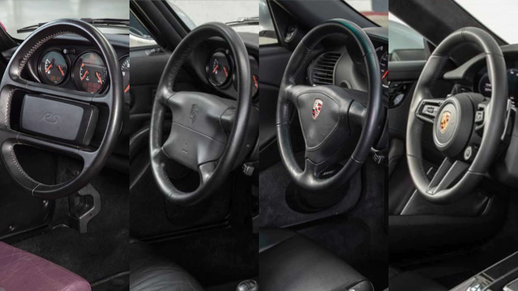 The generations of the 911 steering wheels