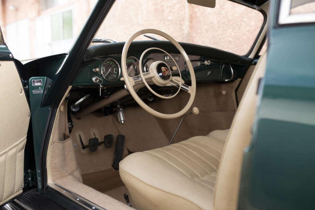 Beige Interior Vehicle Experts Lago Green Metallic Porsche 356 A Coupe
