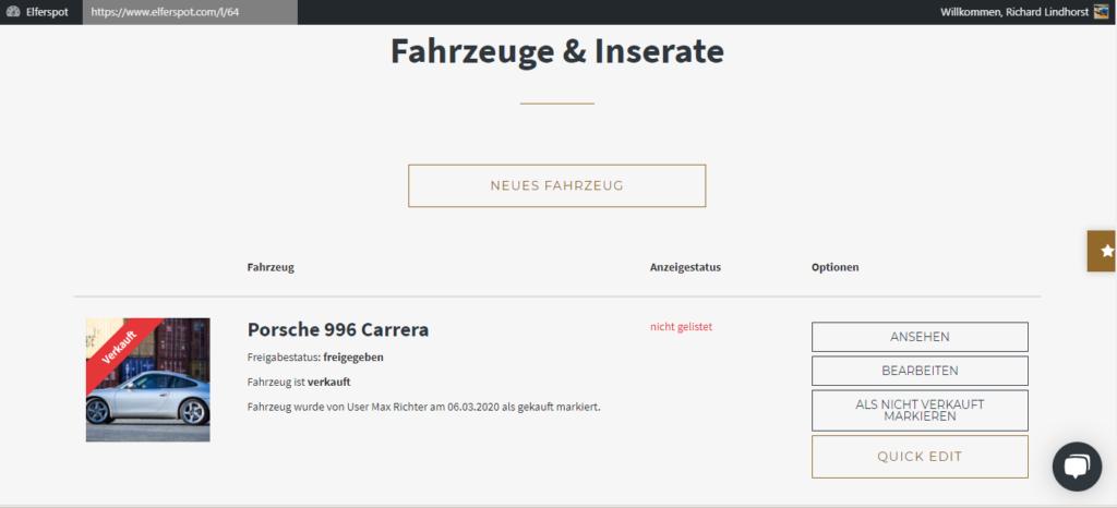 Selling your Porsche Porsche-Verkauf