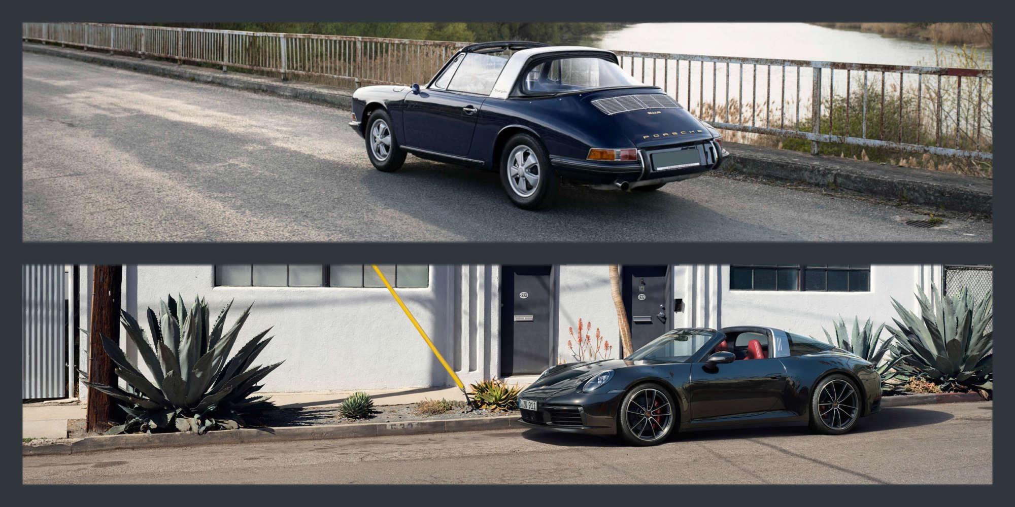 The evolution of the Porsche 911 Targa