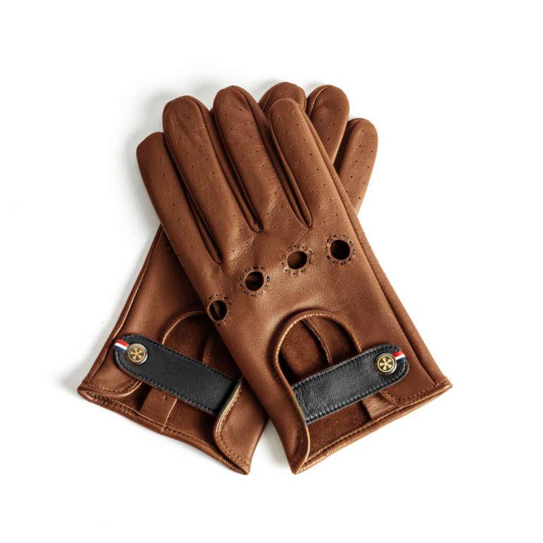 Autofahrer Handschuhe aus Leder für Damen und Herren - Farbe Cognac