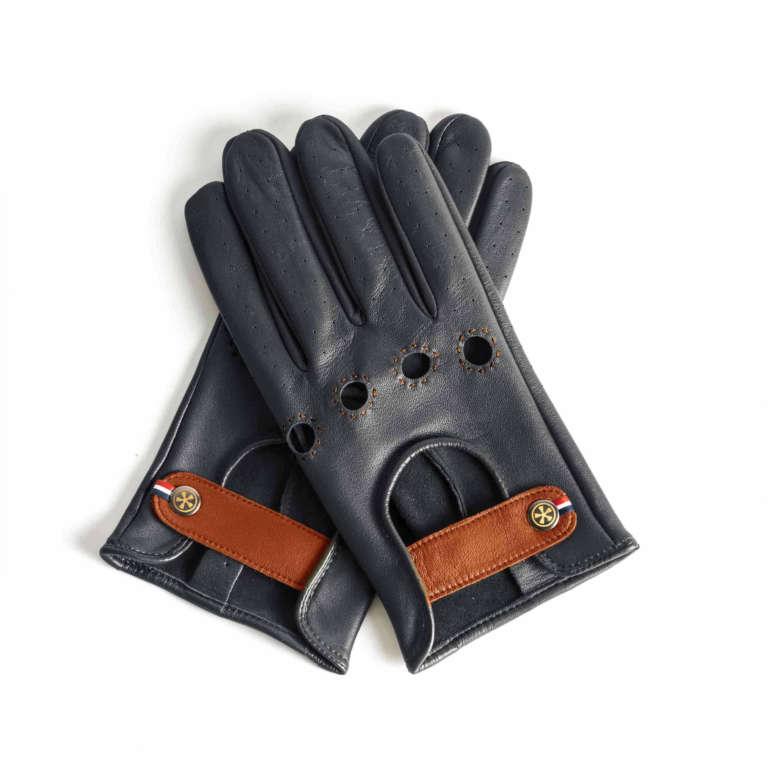 "Autofahrer Handschuhe - Leder ""Blau"""