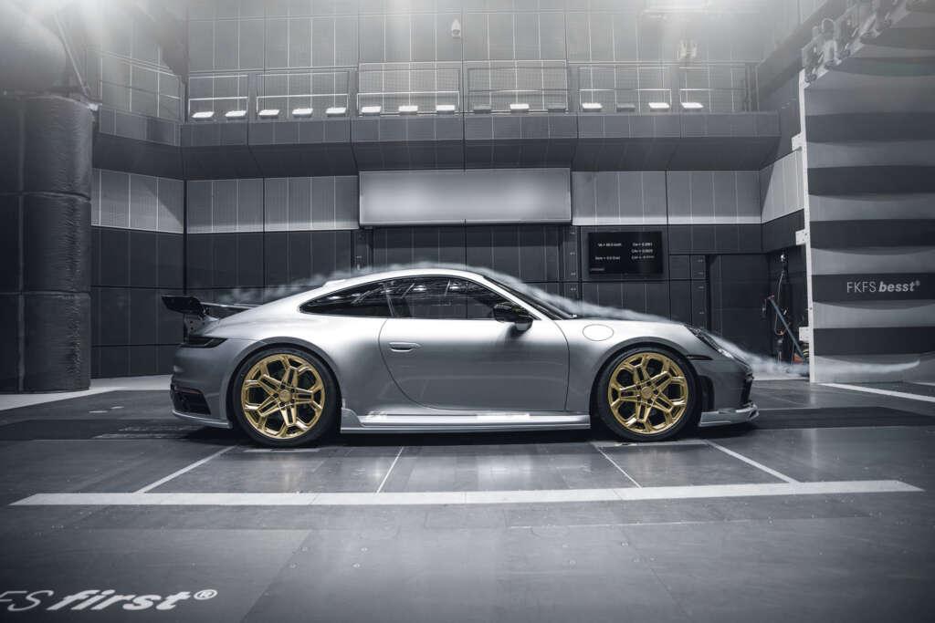 Porsche 992 Techart testing wind tunnel