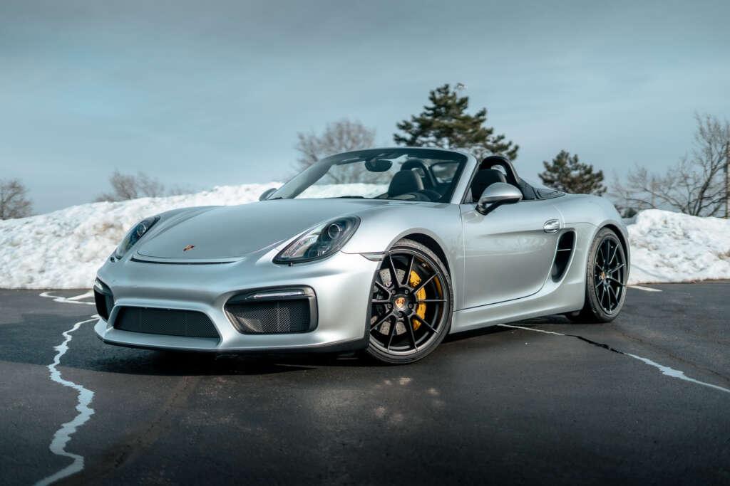 2016 Porsche Boxster Spyder in Rhodium Silver Metallic for sale!